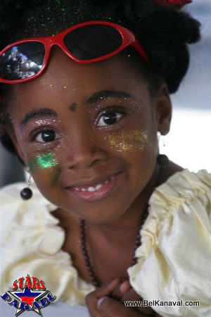 Haitian Girl In A Carnival Costume