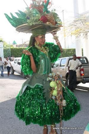 Fruit Vendor Costume, Haiti Star Parade