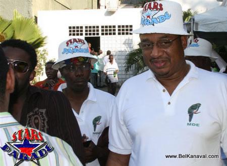 Raynald Delerme At Haiti Star Parade