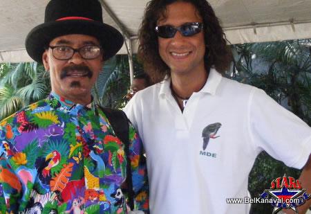 Fritz Valesco And Joel Widmaier At The Haiti Star Parade
