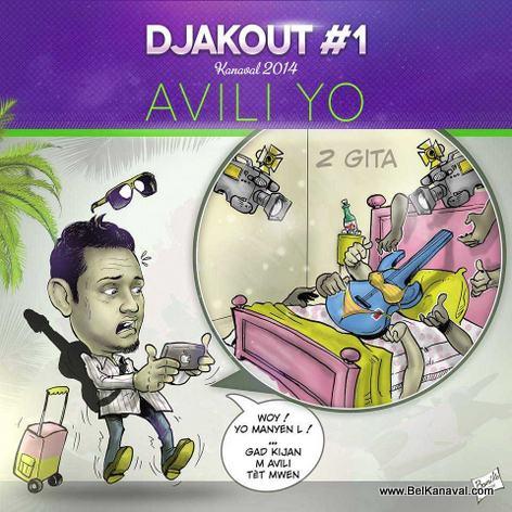 Djakout #1 Kanaval 2014 Poster - AVILI YO