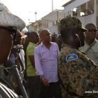 Gonaives President Martelly rive