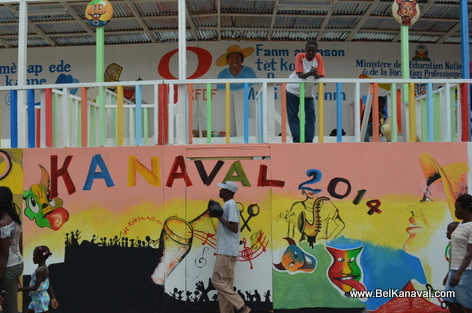 Gonaives - Kanaval Stands - 1 Day Before Kanaval