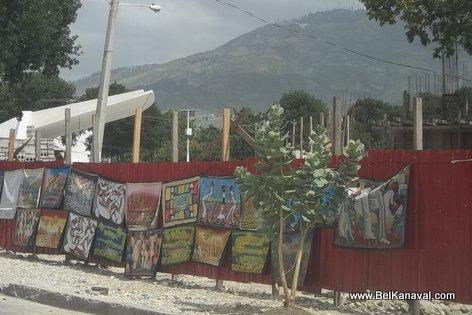 Haiti Carnaval des Fleurs 2014 - Stands Under Construction