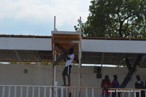 Kanaval 2015 - Stands Construction - Champs-de-Mars Haiti - 14 Fev 2015
